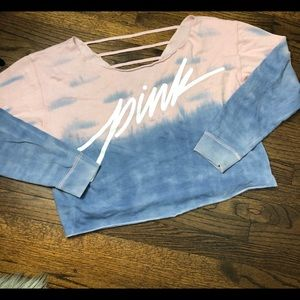 PINK TYE DYE CROP TOP